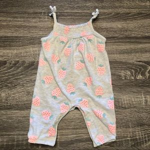 Carters strawberry jumpsuit